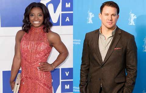 Youve got to see how channing tatum reacted to meeting simone biles channing tatum simone biles m4hsunfo
