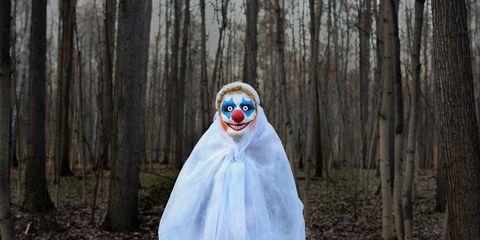 stay safe on a run creepy clown
