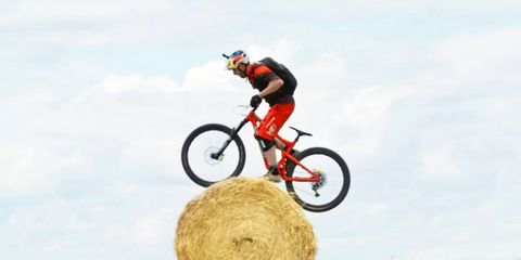 danny macaskill wee day out hay bale