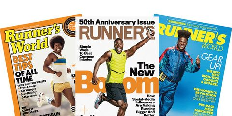 Kevin Hart on the cover of Runner's World