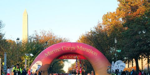 The 2014 Marine Corps Marathon start