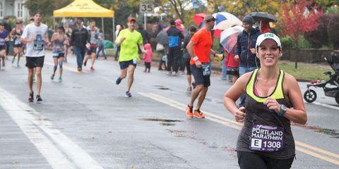 Mindy Cummings at the Portland Marathon