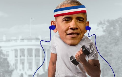 President Obama Just Released His Workout Playlist, and It's Surprisingly Awesome