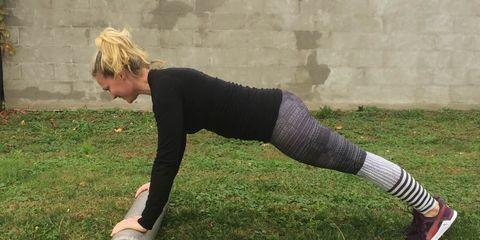 Foam roller arm exercises