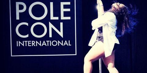 Jada Hudson plus-size pole dancer