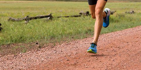 The legs of a runner