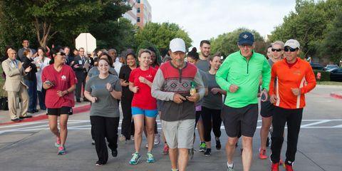 Tony, Dr. Mack and TAVR Team Running