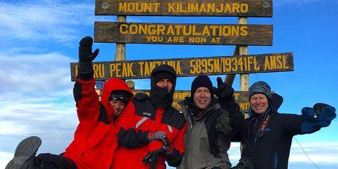 Dan Berlin at peak of kilimanjaro