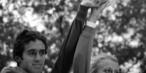 Alberto Salazar and Grete Waitz