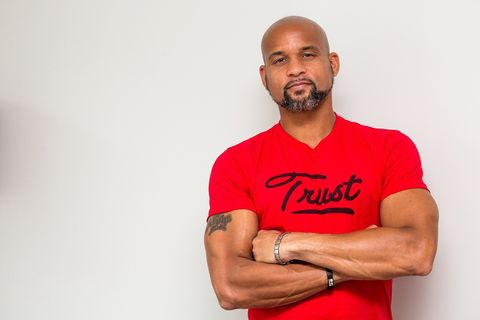 The 42-year old son of father (?) and mother(?) Shaun T in 2020 photo. Shaun T earned a  million dollar salary - leaving the net worth at  million in 2020
