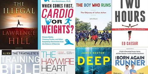 Book covers for Sweat Science 2016 list.