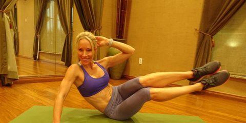 Side crunch oblique exercise