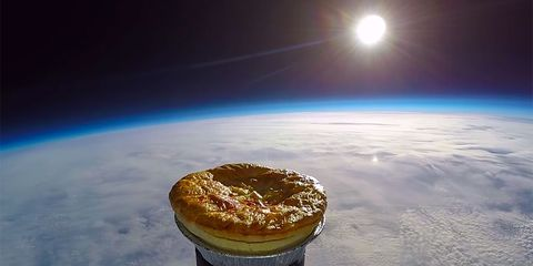 meat pie in space