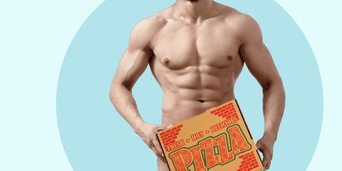 pizza naked guy
