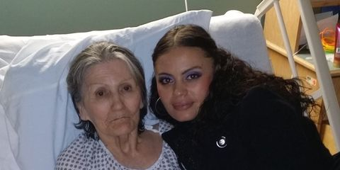 Rosita Perez and mother Isabel with Alzheimer's