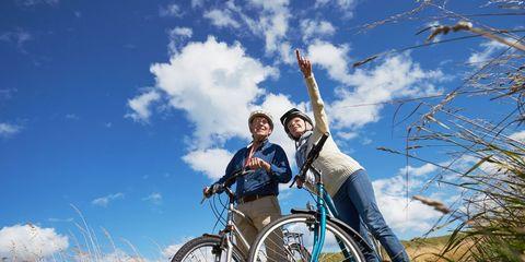 elderly cyclists