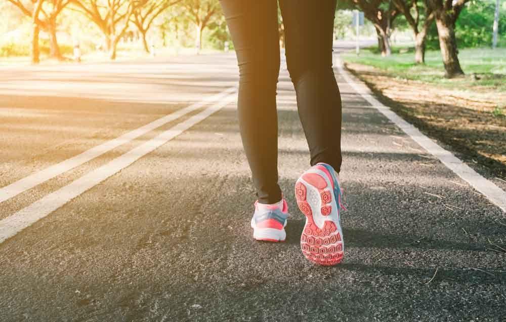 Walk In A Running Shoe