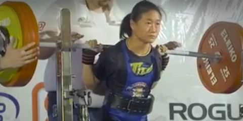 woman squats 4 times body weight