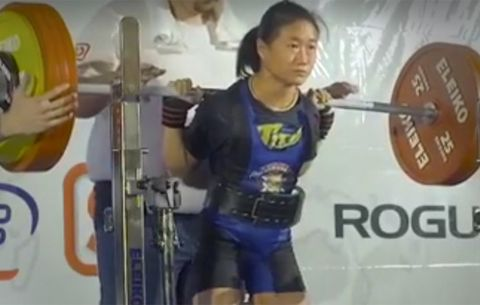 103-Pound Woman Squats 462 Pounds | Men's Health