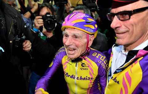105-Year-Old Frenchman Sets Cycling Hour Record for Age Group