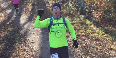 Caleb Daniloff on a run