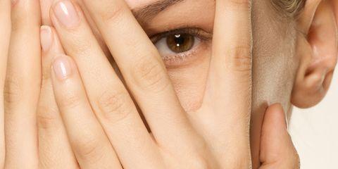 Finger, Cheek, Skin, Eyebrow, Eyelash, Organ, Nail, Muscle, Photography, Close-up,