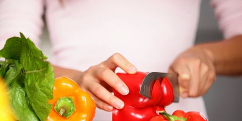 Finger, Food, Vegan nutrition, Bell pepper, Ingredient, Vegetable, Produce, Hand, Whole food, Leaf vegetable,