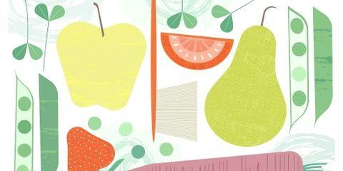 Green, Produce, Leaf, Fruit, Line, Natural foods, Ingredient, Flowering plant, Strawberries, Sweetness,