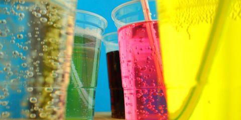 Fluid, Liquid, Glass, Drinkware, Barware, Solution, Highball glass, Laboratory equipment, Transparent material, Non-alcoholic beverage,