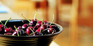 Produce, Still life photography, Violet, Serveware, Cherry, Pottery, Still life, Superfood, Bowl, Kitchen utensil,