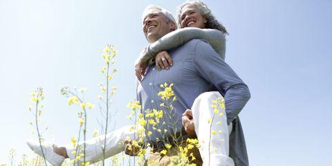 Happy, People in nature, Spring, Wildflower, Love, Laugh, Meadow, Gesture, Hoodie, Pedicel,