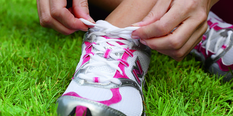 Human, Grass, Finger, Green, Shoe, Pink, Carmine, Athletic shoe, Nail, Close-up,