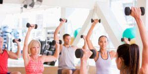 exercising at gym