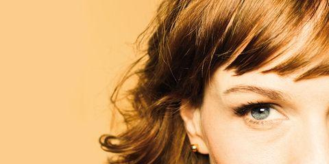 Earrings, Lip, Hairstyle, Forehead, Eyebrow, Eyelash, Style, Jaw, Iris, Beauty,