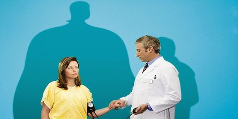Sleeve, Human body, Joint, Standing, Health care provider, Stethoscope, Physician, White coat, Nurse, Medical equipment,