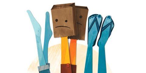 Strap, Costume design, Kitchen utensil, Knot,