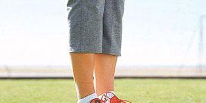feet running sneakers