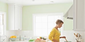 is your indoor air safe; woman in kitchen