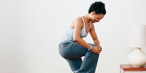 Leg, Shoulder, Elbow, Joint, Denim, Jeans, Sitting, Knee, Active pants, Waist,