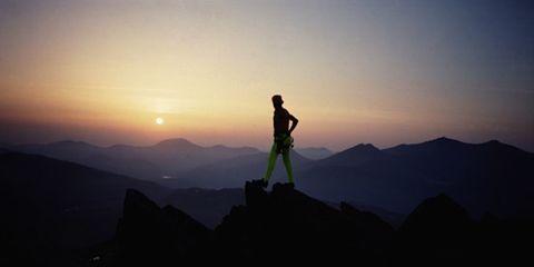 Mountainous landforms, Highland, Sunset, Sunrise, Hill, Atmosphere, Mountain, Dusk, Horizon, Mountain range,