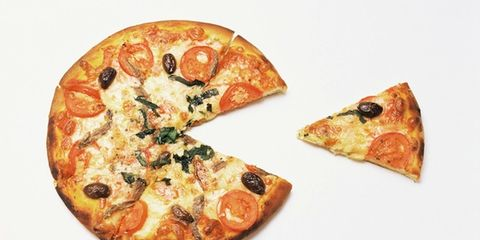 Food, Pizza, Baked goods, Amber, Dish, Cuisine, Recipe, Finger food, Comfort food, California-style pizza,