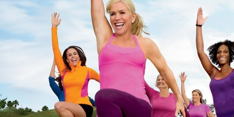 Arm, Smile, Fun, Sportswear, Social group, Happy, Active pants, Leisure, Physical fitness, Facial expression,