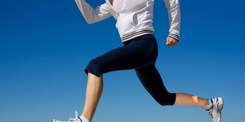 Clothing, Footwear, Leg, Blue, Human leg, Athletic shoe, Textile, Joint, Denim, White,