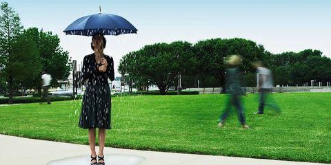 Dress, Umbrella, Dome, Park, Dome, Lawn, Garden, Day dress, Games,