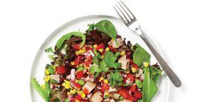 Food, Dishware, Salad, Vegetable, Cuisine, Leaf vegetable, Tableware, Produce, Kitchen utensil, Recipe,