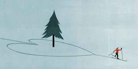 Line, Slope, Art, Evergreen, Illustration, Drawing, Winter sport, Artwork, Triangle, Painting,