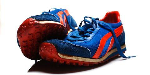 Blue, Product, Shoe, Red, Athletic shoe, Sportswear, Orange, Carmine, Sneakers, Running shoe,