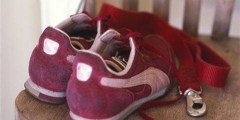 Footwear, Product, Brown, Shoe, Red, White, Maroon, Carmine, Magenta, Fashion,