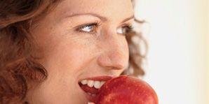 Lip, Cheek, Skin, Chin, Eyebrow, Fruit, Natural foods, Food, Eyelash, Jaw,