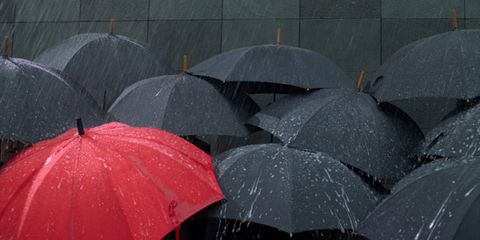 Umbrella, Grey, Precipitation, Rain,